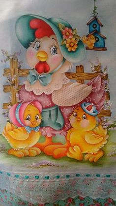 Fabric Painting, Artist Painting, Chicken Quilt, Fabric Paint Designs, Paisley Art, Nursery Decals, Cute Animal Photos, Pintura Country, Embroidery Transfers