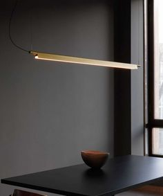 The Luceplan Compendium by Daniel Rybakken is a sculptural design light that unites style, function, and sophistication. The Compendium suspension is an essential, elegant lamp that spreads an ample quality of light on surfaces. Linear Lighting, Home Lighting, Modern Lighting, Lighting Design, Pendant Lighting, Pendant Lamps, Pendants, Office Lamp, Home Office