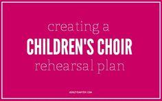 More resources/ ideas for Children church choir. Thank you, Ashley!