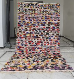 Excited to share the latest addition to my shop: Boucherouite rug small, Boucherouite vintage morocco rug, Boucherouite rug x Beni Ourain, Geometric Rug, Berber Rug, Carpet Runner, Large Rugs, Wool Area Rugs, Floor Rugs, Handmade Rugs, Photo Wall