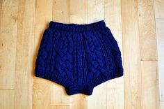 Knitted bloomers! Would love to have these to lounge around the house!