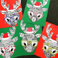 Teaching Resource: A fun Christmas craft activity using a reindeer with funky glasses and a Christmas hat. Teaching Resource: A fun Christmas craft activity using a reindeer with funky glasses and a Christmas hat. Christmas Art Projects, Christmas Activities, Craft Activities, Holiday Crafts, Fun Crafts, Arts And Crafts, Reindeer Christmas Jumper, Reindeer Craft, Noel Christmas
