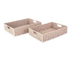 Set de 2 cestas de fibra y metal Adriana