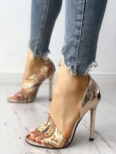 Shop Tribal Print Peep Toe Thin Heeled Sandals right now, get great deals at Joyshoetique. Shop Tribal Print Peep Toe Thin Heeled Sandals right now, get great deals at Joyshoetique. Stilettos, Stiletto Heels, High Heels, Trend Fashion, Fashion Shoes, Womens Fashion, Fashion Brands, Fashion Online, Style Fashion