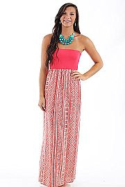 Striking Duo Maxi, pink/coral $48 www.themintjulepboutique.com