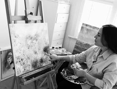 Alizé Wilkinson is a London-based French artist who specialises in highly pigmented and textured oil paintings. See her latest work at www.alizewilkinson.com Oil Painting Texture, Palette, French Artists, Artist At Work, Art World, Oil Paintings, Studios, London, Inspiration