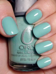 Orly Gumdrop. A super-cute, Tiffany-esque shade. I don't have it ... yet.