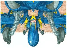 Military Weapons, Military Aircraft, Fun Art, Cool Art, Funny Pics, Funny Pictures, Cartoon Plane, Blue T, Blue Angels