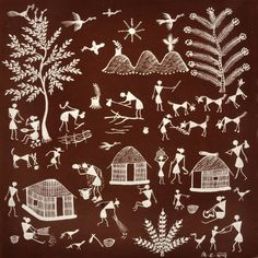 Landscaping Software - Offering Early View of Completed Project Art Of Warli - Handcraft. Madhubani Art, Madhubani Painting, Worli Painting, Indian Art Paintings, Indian Folk Art, Art Corner, Art N Craft, Tribal Art, African Art