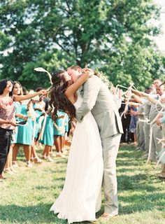 Sweet send-off. Photo by Megan Pomeroy Photography. www.wedsociety.com #wedding