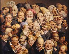 Louis-Léopold Boilly (1761-1845) Reunión de treinta y cinco cabezas con expresión ca. 1823-1828