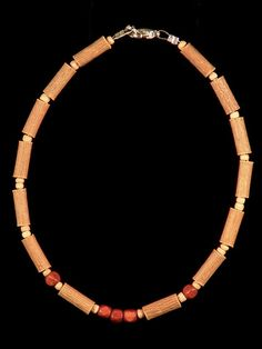 Teething Hazelwood Necklace with Brown Cube wooden beads
