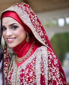 beautiful hijab bridal look