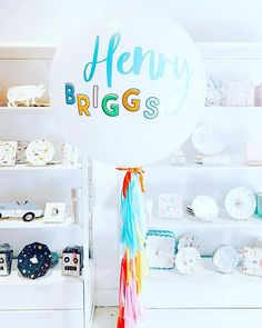 Multi Color Birthday Jumbo Balloon for First Birthday