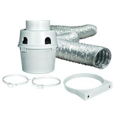 Attach in winter to keep warm  moist air inside.  Smells like fresh laundry too.  Everbilt Indoor Dryer Vent Kit