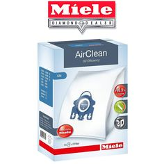 Vacuum Cleaner Bags 20618: Miele Gn Vacuum Bags - 3D Airclean - 4 Hepa Bags And 2 Filters Per Box -> BUY IT NOW ONLY: $37.9 on eBay!