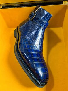 Men's Handcrafted Genuine Alligator Leather Boots Men's Boots, Dress With Boots, Shoe Boots, Shoes, Alligator Boots, Tailored Suits, Office Outfits, Crocodile, Dapper