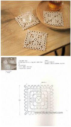Transcendent Crochet a Solid Granny Square Ideas. Inconceivable Crochet a Solid Granny Square Ideas. Filet Crochet, Crochet Lace Edging, Crochet Blocks, Granny Square Crochet Pattern, Crochet Diagram, Crochet Chart, Crochet Squares, Thread Crochet, Crochet Doilies