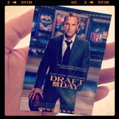 Watching a preview of Draft Day, directed by Ivan Reitman, starring Kevin Costner, Jennifer Gardner, & Denis Leary.   Aptly timed after the news of 1st openly gay American football player Michael Sam's draft.   #draftday #movie #nfl #americanfootball #football #kevincostner #cinema #flick #instapix #instamovie