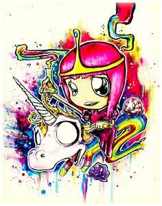 Princess Bubblegum by imamachinist aka Alister Dippner
