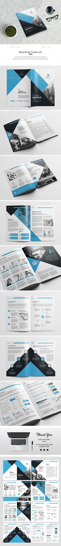 Company Profile Brochure 14 Pages A4 Folletos, Diseño y Cartas - business company profile template