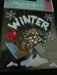 We got hit by the winter storm and took tons of beautiful pictures! Here are the stickers I will use to capture it in my scrapbooking layout! WINTER TREE Jolee's Boutique Scrapbooking by ExpressionsofFaith, $2.99