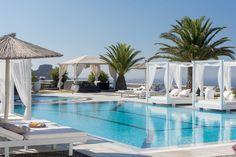 Pool Lounge @ Pantheon Villas Santorini Greece