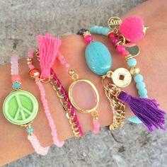 paarse kralen armband