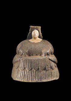 Statuette féminine connue sous l'appellation de «princesse de Bactriane». Très différente et très ancienne aussi, cette figure représente une dame de l'aristocratie dans la civilisation de l'Oxus, en Asie centrale. (Musée Barbier-Mueller/Studio Ferrazzini Bouchet)
