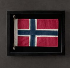 I love these framed flags from Restoration Hardware. This must be possible to do for less $.