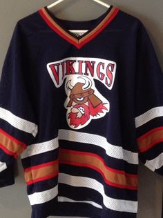 e160b22e5 Vintage VIKINGS Wasilewski #10 Defunct Minor League Hockey Jersey 1990 s Men  s M