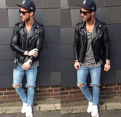Urban Style Men / Jacket Leather Black