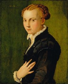 A Young Woman, ca. 1565 (attributed to Girolamo Mazzola Bedoli) (ca. 1500-1568) Museum of Fine Arts, Houston, TX, Kress Collection, K-171