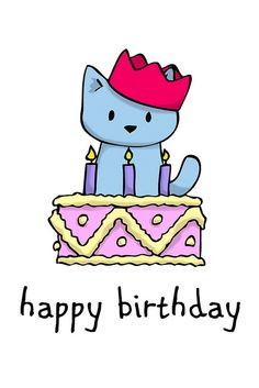 Happy Birthday to Doodlecats! Happy Belated Birthday, Happy Birthday Messages, Happy Birthday Quotes, Happy Birthday Images, First Birthday Decorations, First Birthday Gifts, Cat Birthday, Birthday Nails, Bday Cards