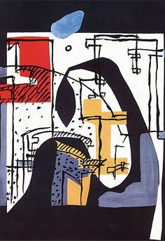 Grabado de Le Corbusier.