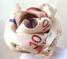 Pink Money Rose 50 Euros Ready to Spend by PaperAffection on Etsy, $100.00