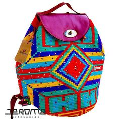#wayuu #packbag decorated with #swarovski #crystals. #glamour #summer #elegant…