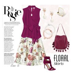 Floral Skirt by labond on Polyvore featuring polyvore, fashion, style, Emilio Pucci, Via Spiga, Jean-Michel Cazabat, Ippolita, Kate Spade, Soul Journey, Tiffany & Co., White House Black Market, Whiteley and clothing