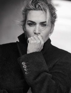 Kate Winslet, photographed by Peter Lindbergh for L'uomo Vogue, Nov 2015.