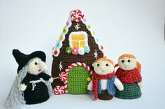 Crochet finger puppets Amigurumi Hansel and Gretel by lamicogufo