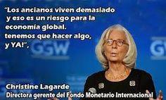 Christine Lagarde: Los ancianos viven demasiado y es un riesgo para la economía. #Economia #FMI