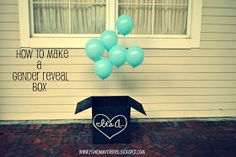 Diary of a Fit Mommy: How to Make a Gender Reveal Balloon Box Tutorial