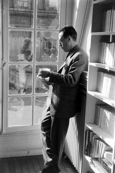 Aesthetics of Windows — Albert Camus in Paris in 1957. Loomis Dean