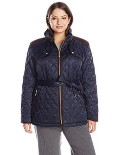 Vince Camuto Women s Plus-Size Quilted Barn Jacket 349b660a7