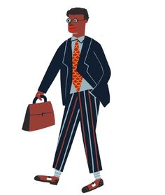 Business man character for Cubby restaurant #cachetejack #illustration #characters #businessman by cachetejack