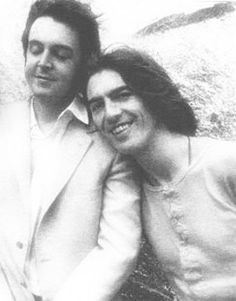 Paul McCartney and George Harrison.  See the love.