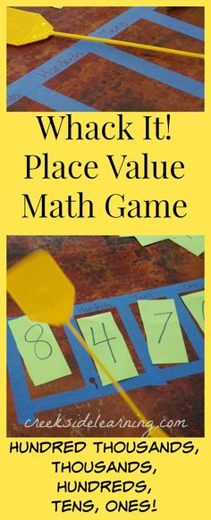 Could use this idea for multiple teaching subjects. How to teach Place Value in Math with this easy game. More math with movement activities for kids students Fourth Grade Math, Second Grade Math, 2nd Grade Math Games, Math Tutor, Teaching Math, Math Education, Kinesthetic Learning, Teaching 5th Grade, Teaching Numbers
