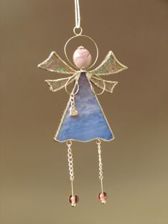 Stained glass angel by GrayFamilyShop on Etsy