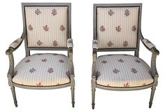 French Gray-Painted Armchairs, Pair on OneKingsLane.com