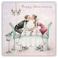 Happy Wedding Anniversary Berni Parker Designs Card  £2.75 - FREE Postage!